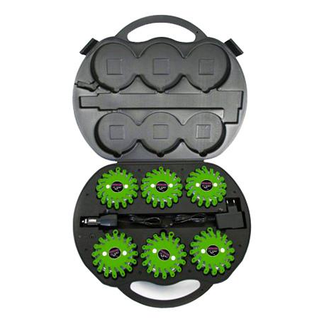 SET  Výstražná světla LED Power Flash 306Z v profi kufru s nabíjecí sadou