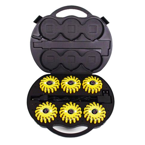 SET Výstražná světla LED Power Flash 306L v profi kufru s nabíjecí sadou