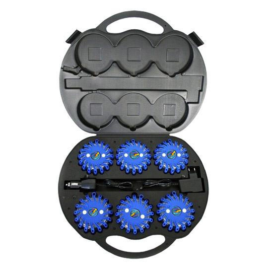 SET Výstražná světla LED Power Flash 306M v profi kufru s nabíjecí sadou